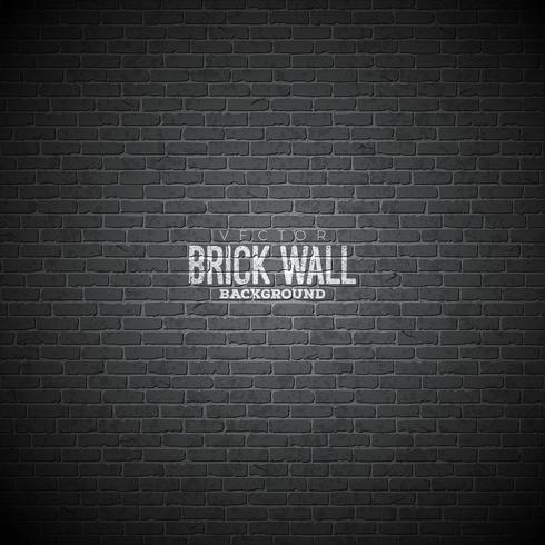 Vector brick wall background. Texture pattern illustraton for your design.