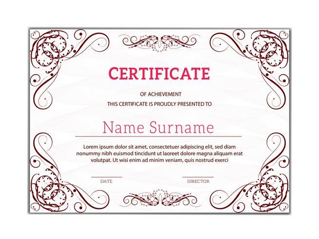Tappninggyllene klassiska certifikat för prestationsmall