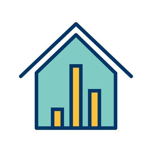 Estadísticas inmobiliarias Vector icono