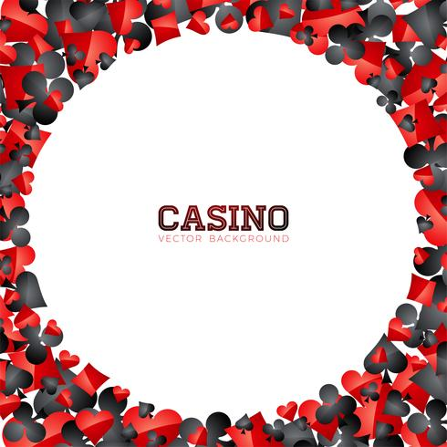 Casino playing card symbols on white background. Vector Gambling isolated floating design element.