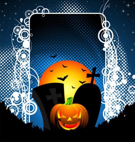 vektor illustration på ett Halloween tema