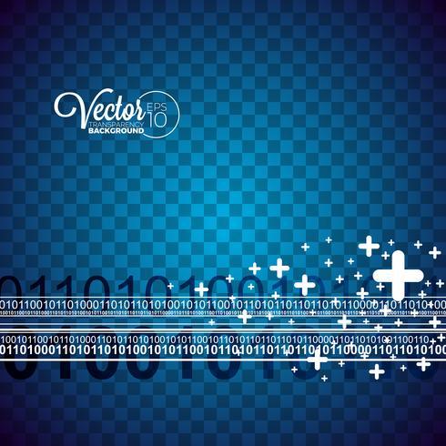 Abstract vectorgolfontwerp op transparante achtergrond.
