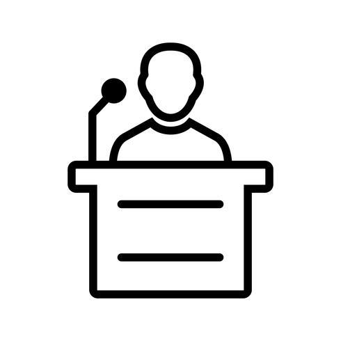 Discours Vector Icon
