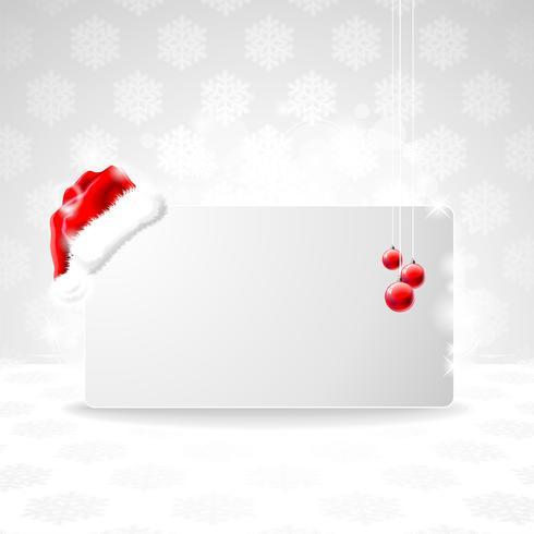 Christmas illustration with Santa Claus cap.