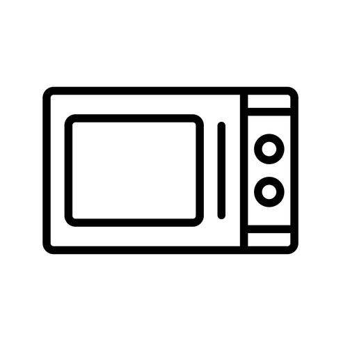Mikrovågsugn Vector Icon
