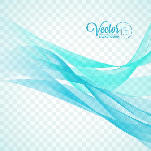 Diseño de la onda del color del vector que fluye elegante en fondo transparente.