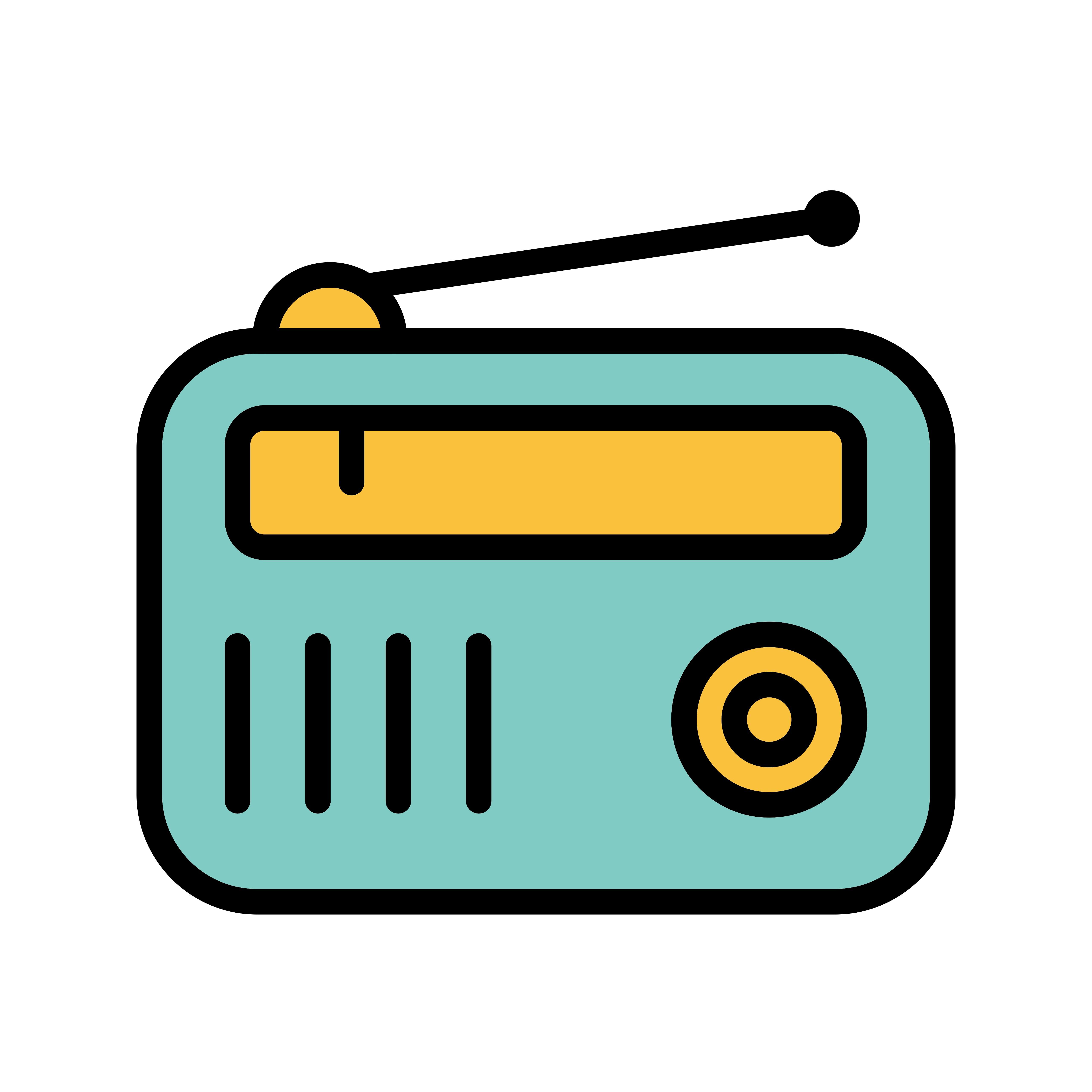 Radio Vector Icon Download Free Vector Art Stock