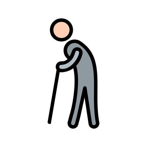 Icono de vector de jubilación