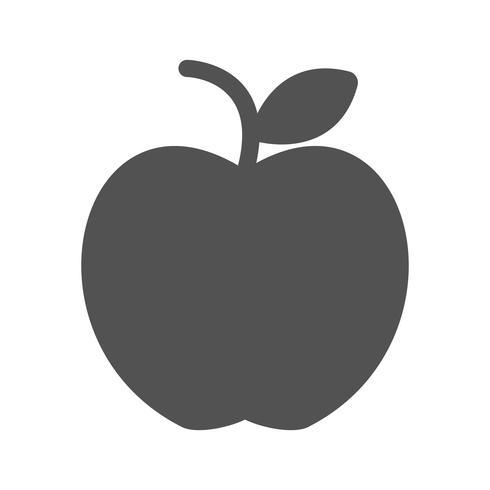 icono de vector de manzana