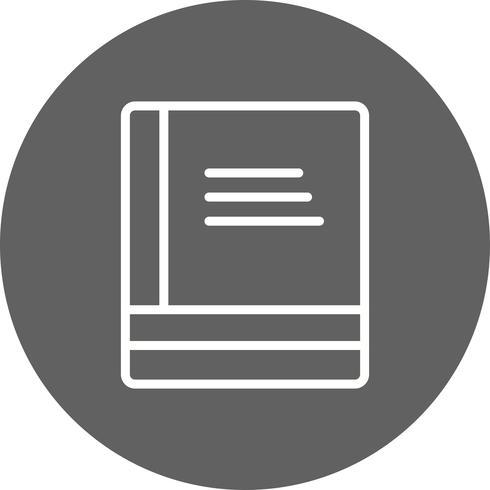 Icône de livres de vecteur
