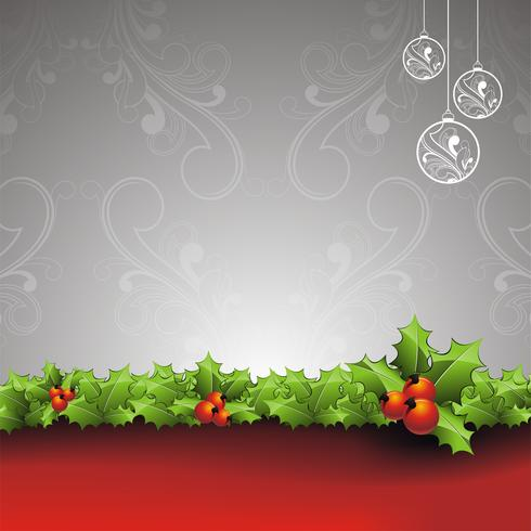 Vector holiday illustration on a Christmas theme with gift box