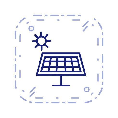 Ícone de vetor de energia solar