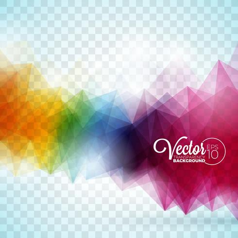 Abstract vector geometric triangles design on transparent background