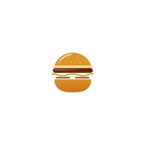 Logotipo de la casa de hamburguesas clásica americana