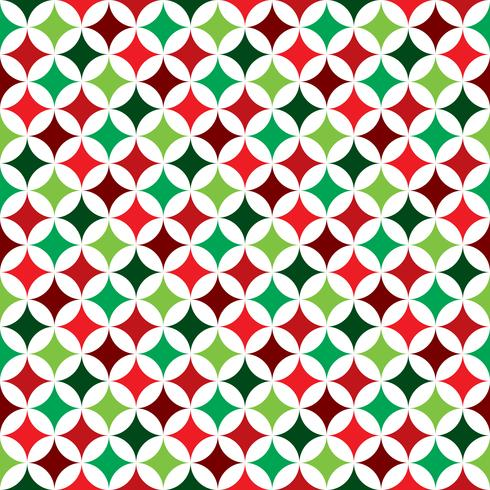 Vector el ejemplo inconsútil del modelo en un tema del día de fiesta de la Navidad en el fondo blanco.