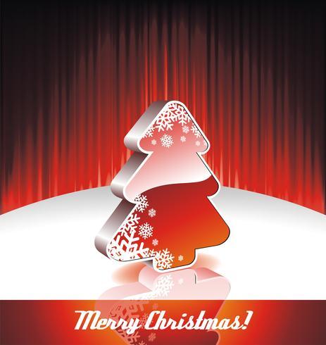 Vector Illustration auf einem Weihnachtsmotiv mit Weihnachtsbaum 3d