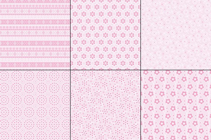 Ojal rosa pastel patrones de bordado vector