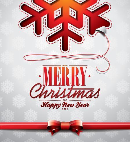 Vector illustration de Noël avec conception de flocons de neige