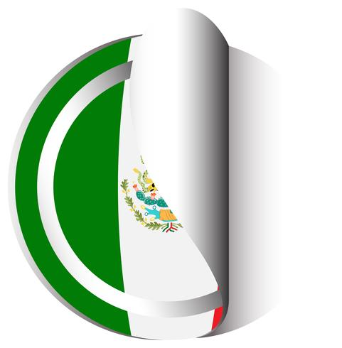 Projeto da etiqueta para a bandeira do México