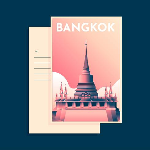 Bangkok Temple Postcard Template