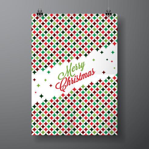 Vector Merry Christmas Holiday illustratie met typografisch ontwerp
