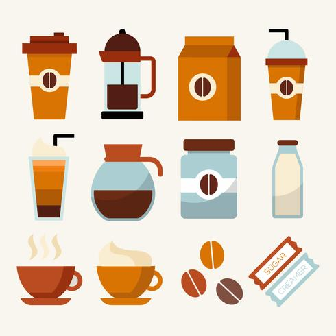 Coffee Clip Art Element Collection Vector