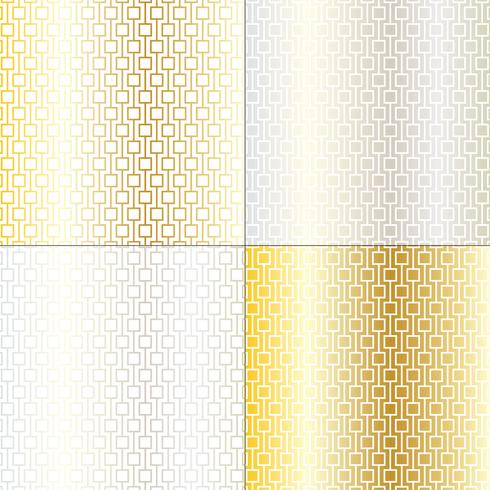 mod silver and gold geometric lattice patterns vector