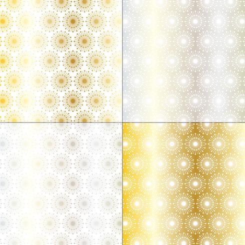 plata y oro mod patrones de starburst