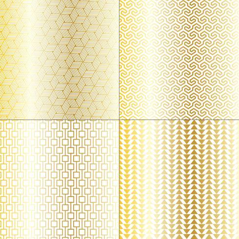 motifs géométriques mod or et blanc
