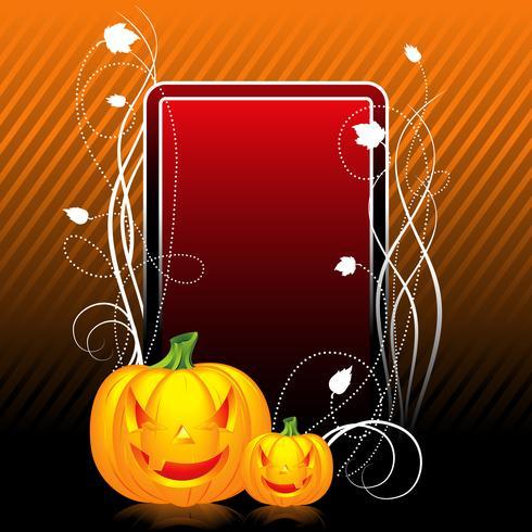 vector illustration on a Halloween theme with pumpkin