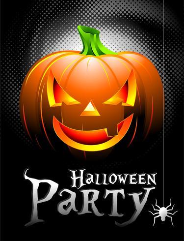 Vector fundo de festa de Halloween com abóbora.