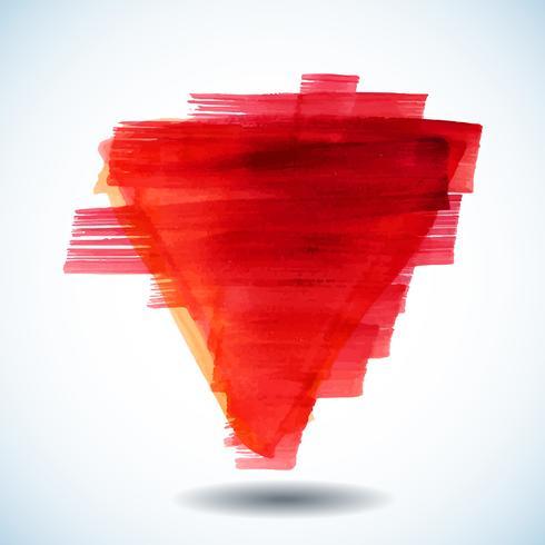fundo vermelho aquarela abstrata vetor