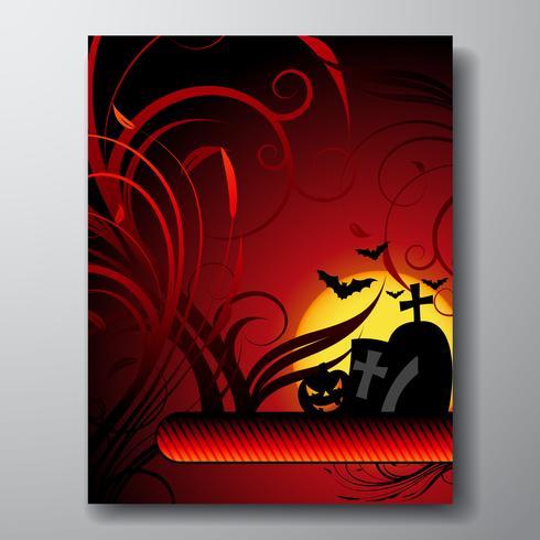 ilustración vectorial sobre un tema de halloween con calabaza