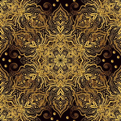 Seamless oriental ornament in the style of baroque. vector