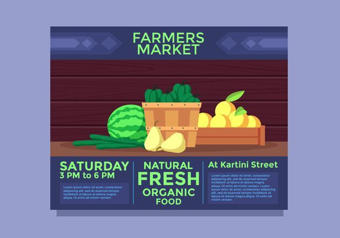 Paysage Flyer Design Farmers Market Vector