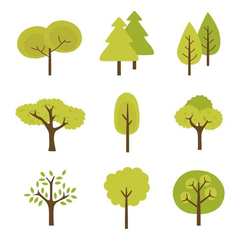 Tree Clipart Set Vector Collection