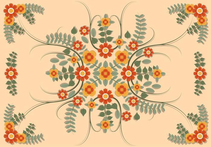 Flor Clipart Set Ilustração Vetorial