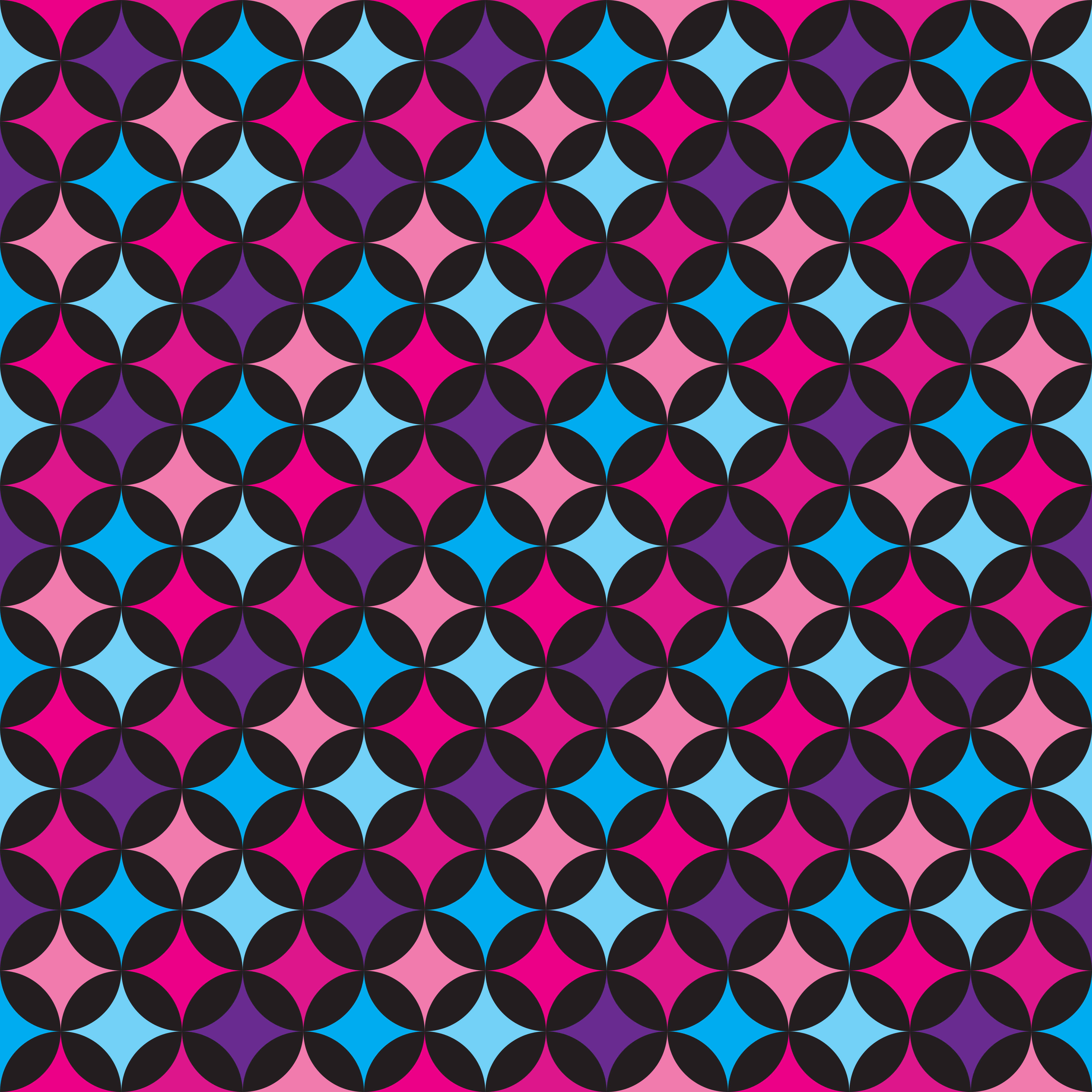 Vector Seamless Pattern Illustration With Blue And Pink