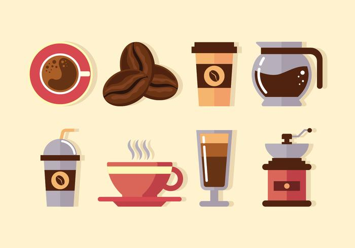 Clipart de elementos de café