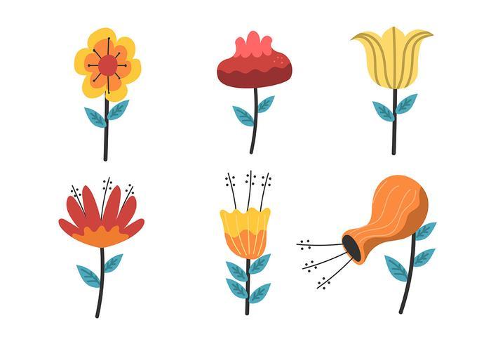 blomma clipart set