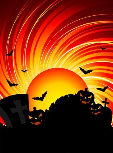 ilustración vectorial sobre un tema de halloween con calabazas vector