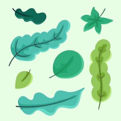 clipart feuilles vertes