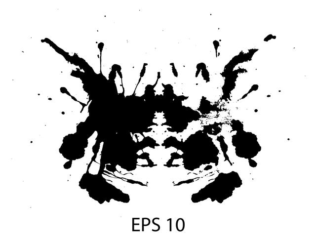 Rorschach inkblot test random abstract background vector