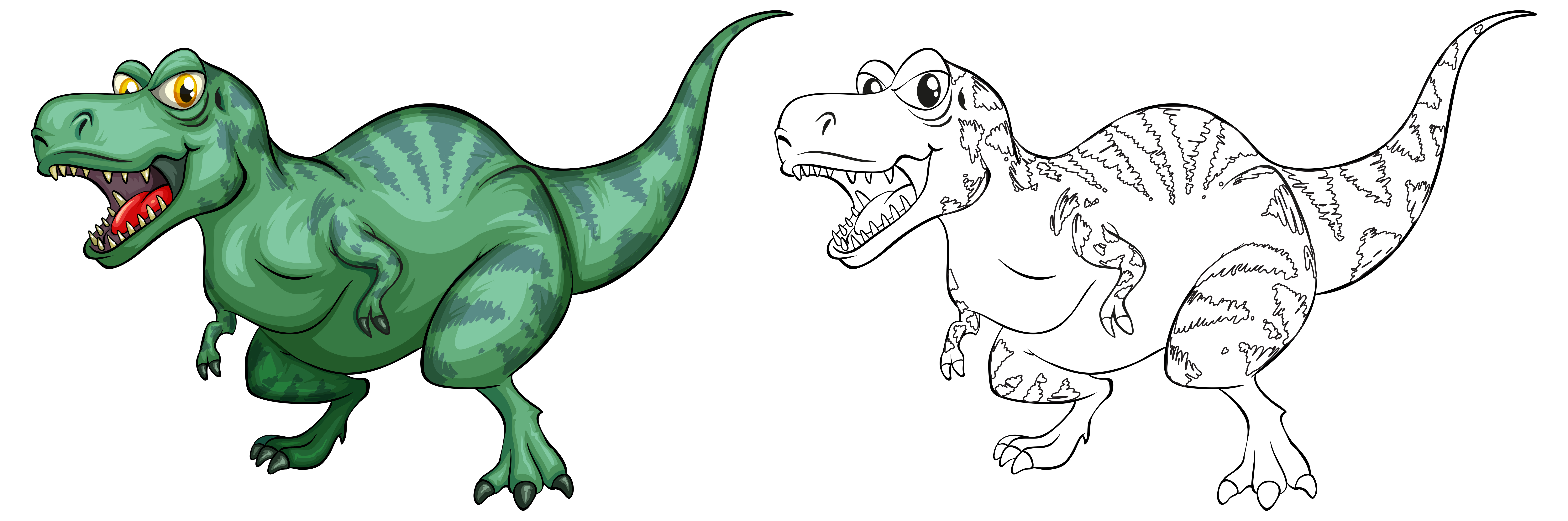 Contorno Animal Para Dinossauro T Rex Download Vetores Gratis