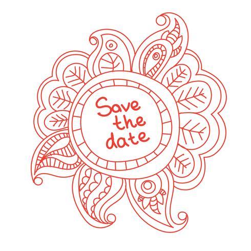 bannière florale doodle vecteur