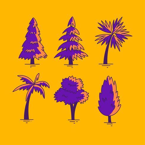 Hand gezeichneter Baum Clipart-gesetzter Vektor