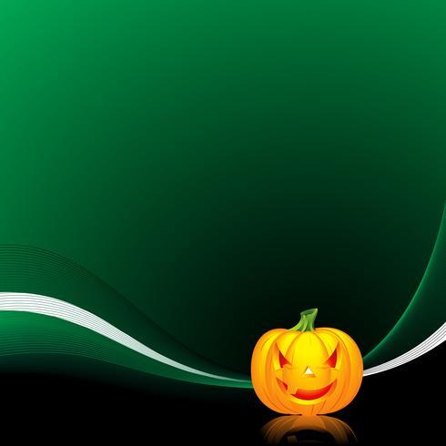 ilustración vectorial sobre un tema de halloween con calabaza vector
