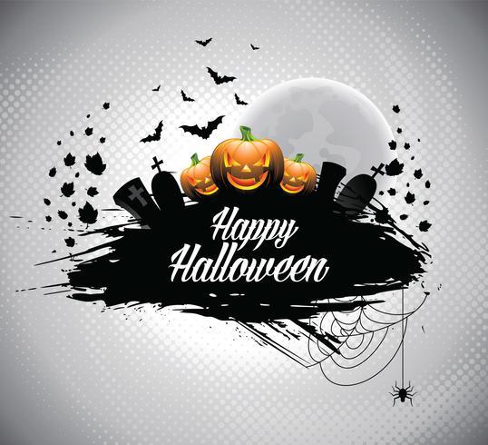 Vektorabbildung auf einem Halloween-Thema.
