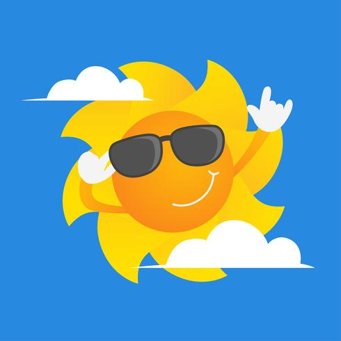 Sun Clipart Set Ilustração Vetorial vetor