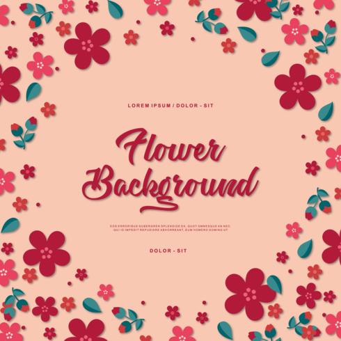 Vector de fondo de la flor
